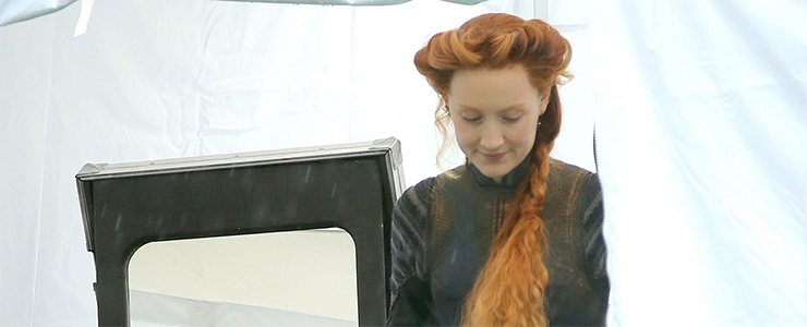 "(Photos) On the set of ""Mary, Queen of Scots"""