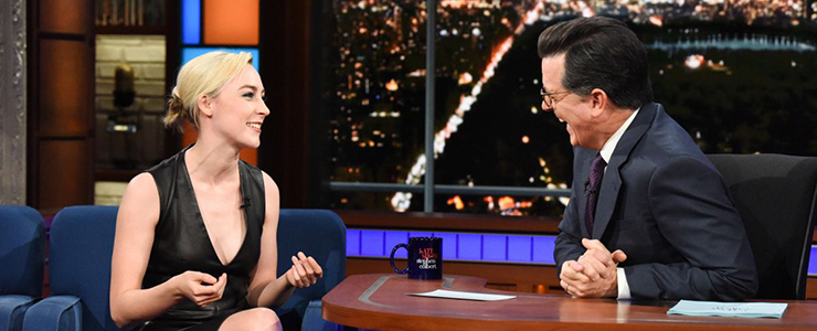 Saoirse visits The Late Show with Stephen Colbert