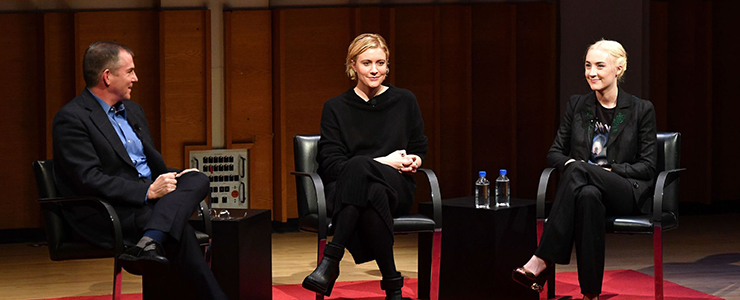 Saoirse attends TimesTalks with Greta Gerwig