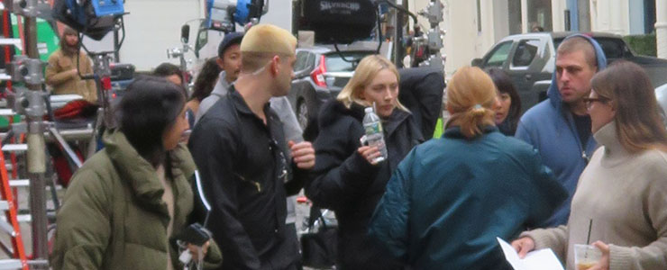 Saoirse spotted filming in NYC