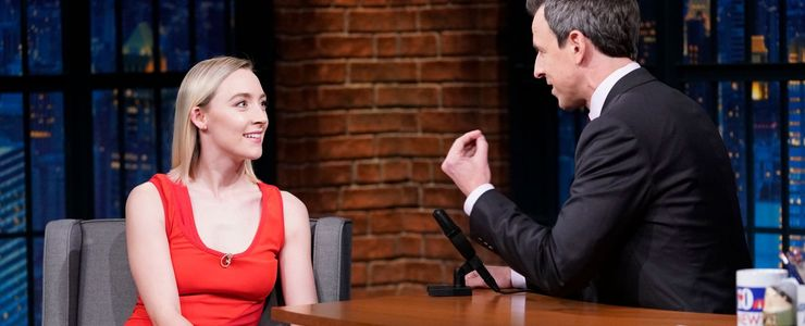 Saoirse visits Late Night with Seth Meyers