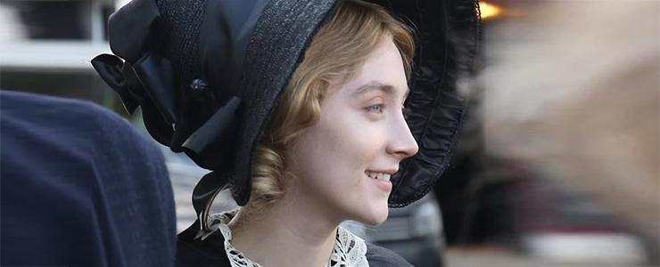 """(Photos) Saoirse films """"Ammonite"""" in Dorset"""