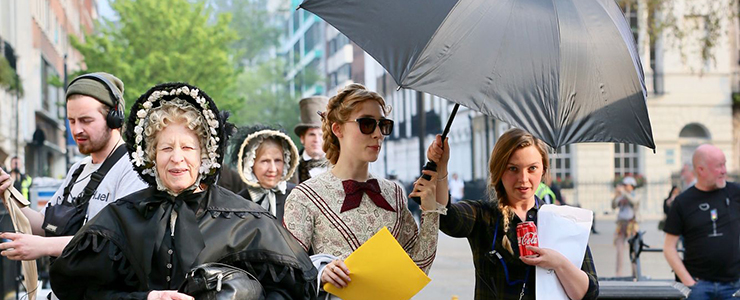 "(Photos) On the set of ""Ammonite"" in London"